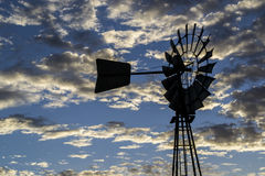 Windmill. Country australia outback sunset Royalty Free Stock Photos