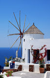 Windmill. On Santorini island, Greece stock image