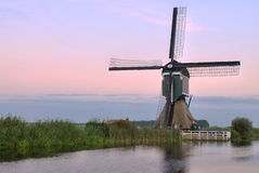 Windmill. This is one of the more than 1000 windmills still available in The Netherlands. Its' name is Gelkenes Windmill Royalty Free Stock Photos