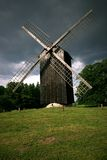 Windmill. Old wooden windmill in the Tallin village museum, Estonia, Europe Royalty Free Stock Photography