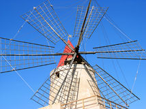 Windmill. At Saline (Marsala-Sicily royalty free stock photography