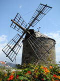 Windmill. Old windmill in Montedor near Viana do Castelo, Portugal Royalty Free Stock Image