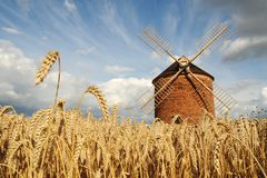 Windmill. In Chvalkovice (Czech Republic royalty free stock images