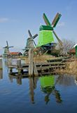 Windmill. Zaanse schans Stock Photos