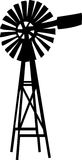 Windmill. Illustration of a windmill in black Stock Images