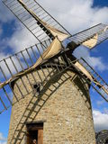Windmill. In the town of Dol de Bretagne, in France Stock Photos