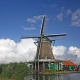 Windmill. A windmill in  Zaanse Schans - Holland Royalty Free Stock Image