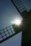 Windmill. Old windmill with a backlighting Royalty Free Stock Photo