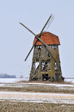 Windmill. It is a old windmill in Lithuania stock photos