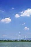 Windmill against blue sky. Photo of windmill against blue sky Royalty Free Stock Photo