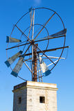 Windmill against Blue Sky. Windmill for Agricultural Water Pump Royalty Free Stock Photography