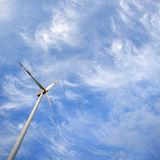 Windmill against blue sky with copy space Royalty Free Stock Photography
