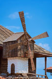 Windmill against the Blue Sky Royalty Free Stock Images