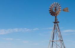 Windmill against a blue sky in Western Australia royalty free stock photos