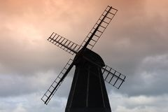 Windmill. Against grey clouds Royalty Free Stock Image