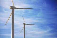 Wind mill against sky Royalty Free Stock Photos