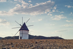 Windmill Almeria province,Andalusia Spain Stock Photos