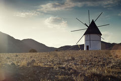 Windmill Almeria province,Andalusia Spain Royalty Free Stock Image