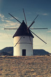 Windmill Almeria province,Andalusia Spain Royalty Free Stock Photo