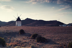 Windmill Almeria province,Andalusia Spain Royalty Free Stock Photography
