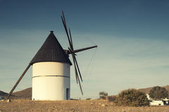 Windmill Almeria province,Andalusia Spain Stock Images