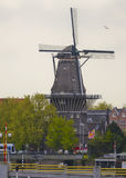 A windmill in Amsterdam, Netherlands Royalty Free Stock Image