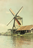 Windmill amsterdam Royalty Free Stock Images