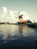 Windmill amsterdam Stock Photos