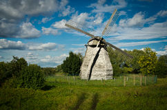 Russian Wooden Windmill Stock Photos