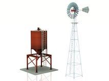 Windmill And Watertank Royalty Free Stock Photo