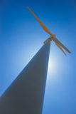 Windmill. Angle shot of a wind generator Royalty Free Stock Photography