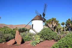 Windmill of Antigua (Molino de Antigua). Fuerteventura, Canary Islands, Spain. Antigua (Spanish meaning ancient) is a Canarian municipality in the central and Royalty Free Stock Images