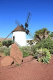 Windmill of Antigua (Molino de Antigua). Fuerteventura, Canary Islands, Spain. Antigua (Spanish meaning ancient) is a Canarian municipality in the central and Stock Photo