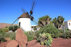 Windmill of Antigua (Molino de Antigua). Fuerteventura, Canary Islands, Spain. Royalty Free Stock Photo