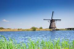 Windmill for arrogation in Netherlands, Kinderdijk Stock Image