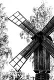 Windmill. Artistic capture of a windmill, showing the historic relation and how time goes by Stock Photos