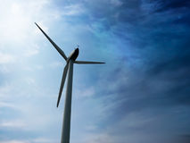 Windmill as ecologically clean source of energy Stock Photography