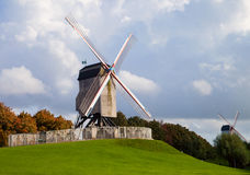 Windmill At Autumn Day Stock Images