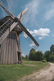Windmill At Front Royalty Free Stock Photo