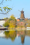 The Windmill Autumn River Royalty Free Stock Image