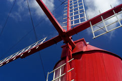 Windmill. Azores windmill detail at sao Miguel Island, azores Stock Photos