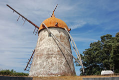 Windmill in azores Royalty Free Stock Image