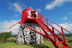Windmill in azores Stock Photo