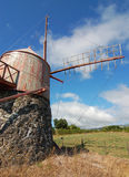 Windmill in azores. San miguel portugal Royalty Free Stock Image