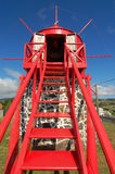 Windmill in azores. San miguel portugal Stock Photos