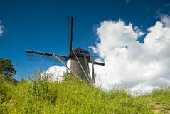 Windmill from the Back Royalty Free Stock Image