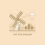 Windmill - bakery emblem Stock Image