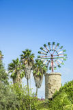 Windmill in the Balearic Islands. Royalty Free Stock Image
