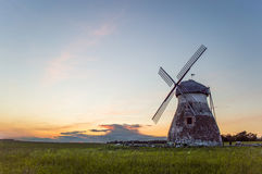 Windmill. Beautiful countryside with old windmill Stock Image