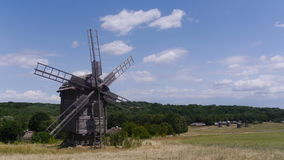 Windmill. Beautiful pictures taken in Ukraine stock photography